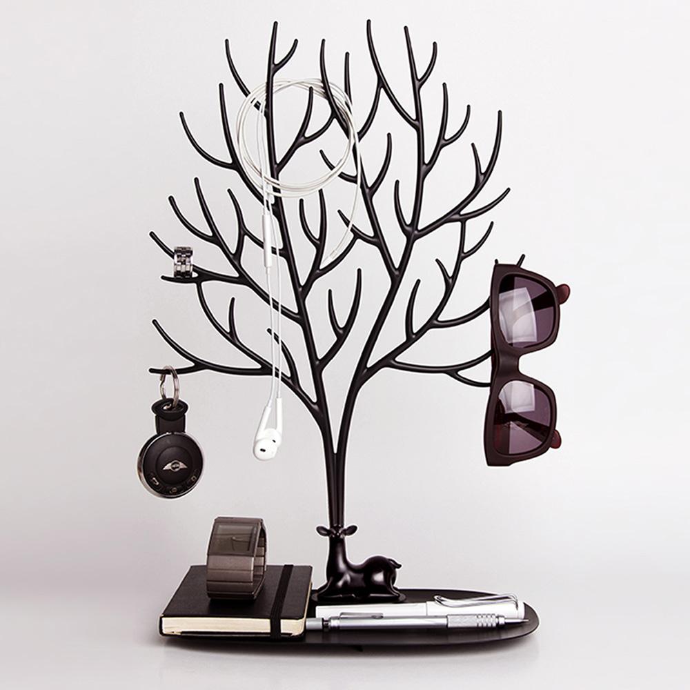 QUALY|森林鹿角L-飾品架(黑)
