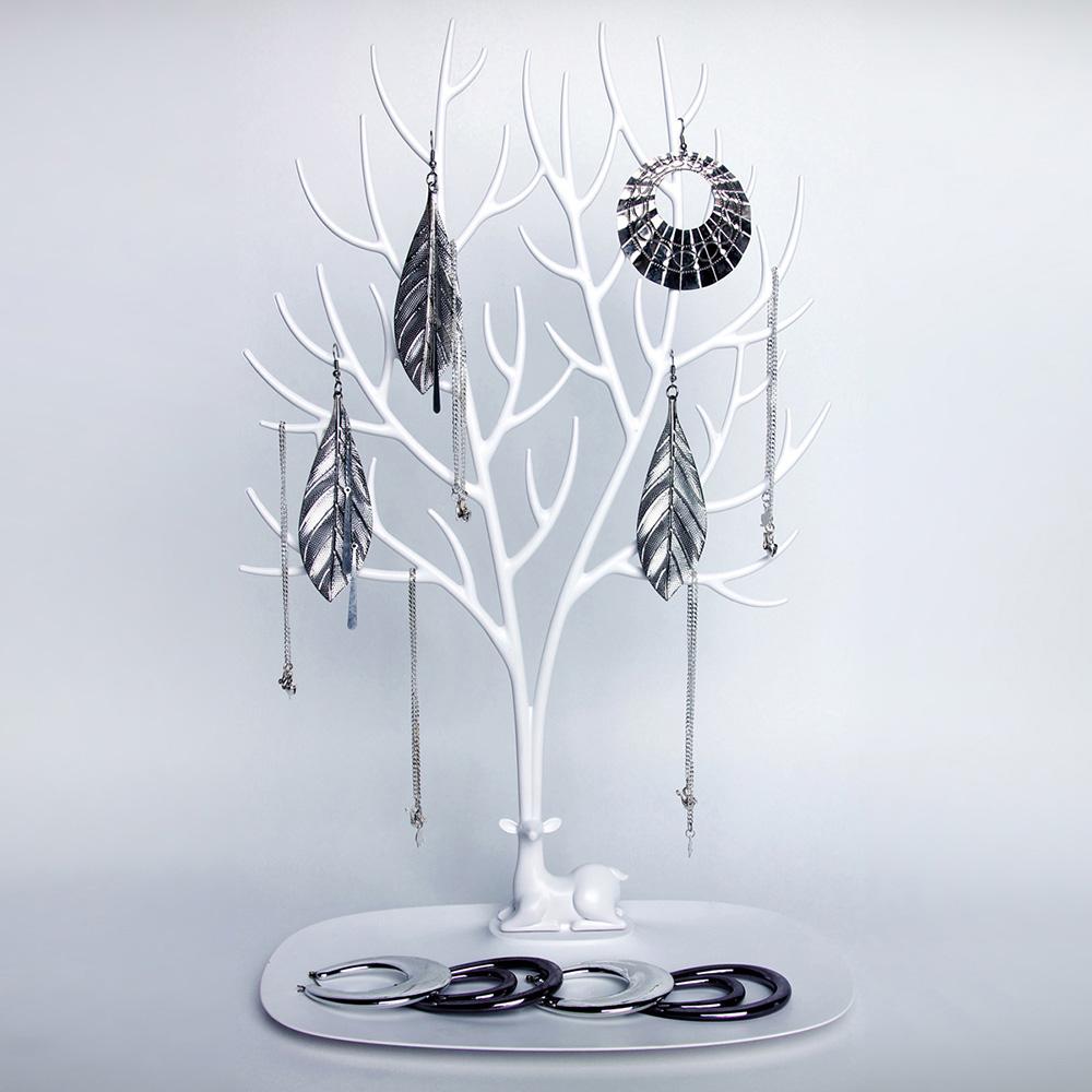 QUALY|森林鹿角L-飾品架(白)
