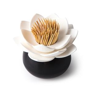 Qualy|蓮花好剔-牙籤罐(黑+白)