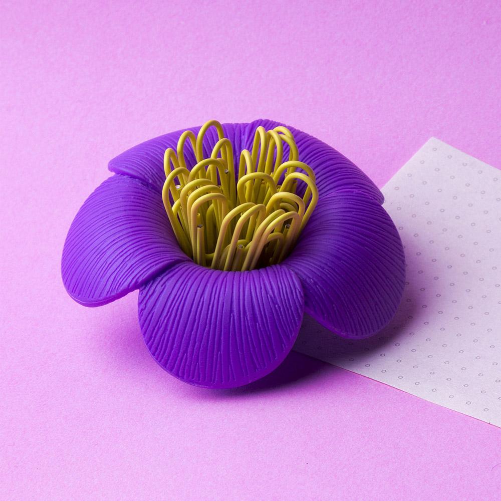 QUALY|山茶花-迴紋針組(紫)
