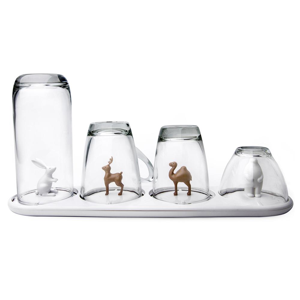 QUALY 動物樂園-杯架盤