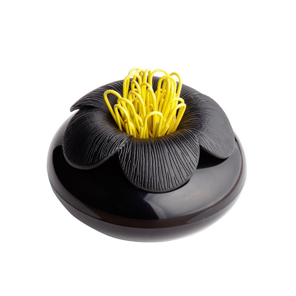 QUALY 山茶花-置物罐(黑+黑)