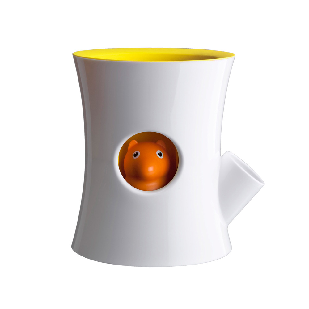 QUALY|松鼠花器(白筒)