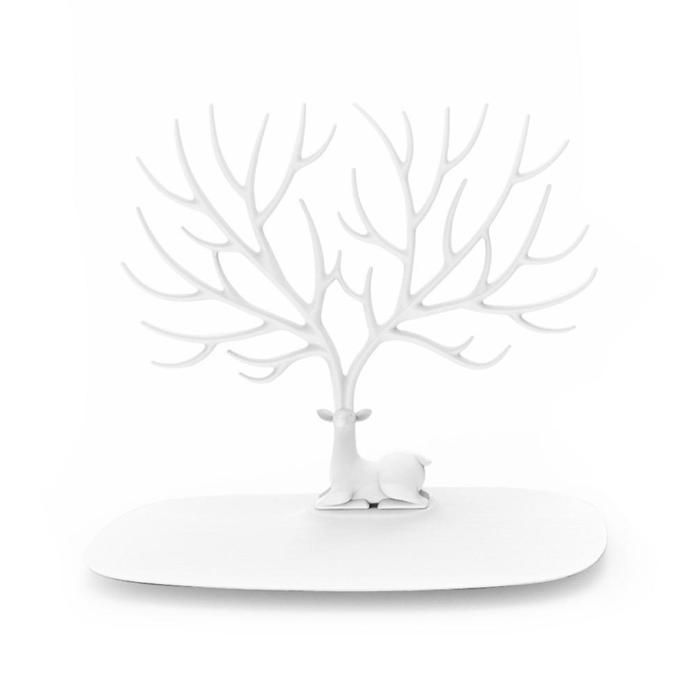 QUALY|森林鹿角S-飾品架(白)