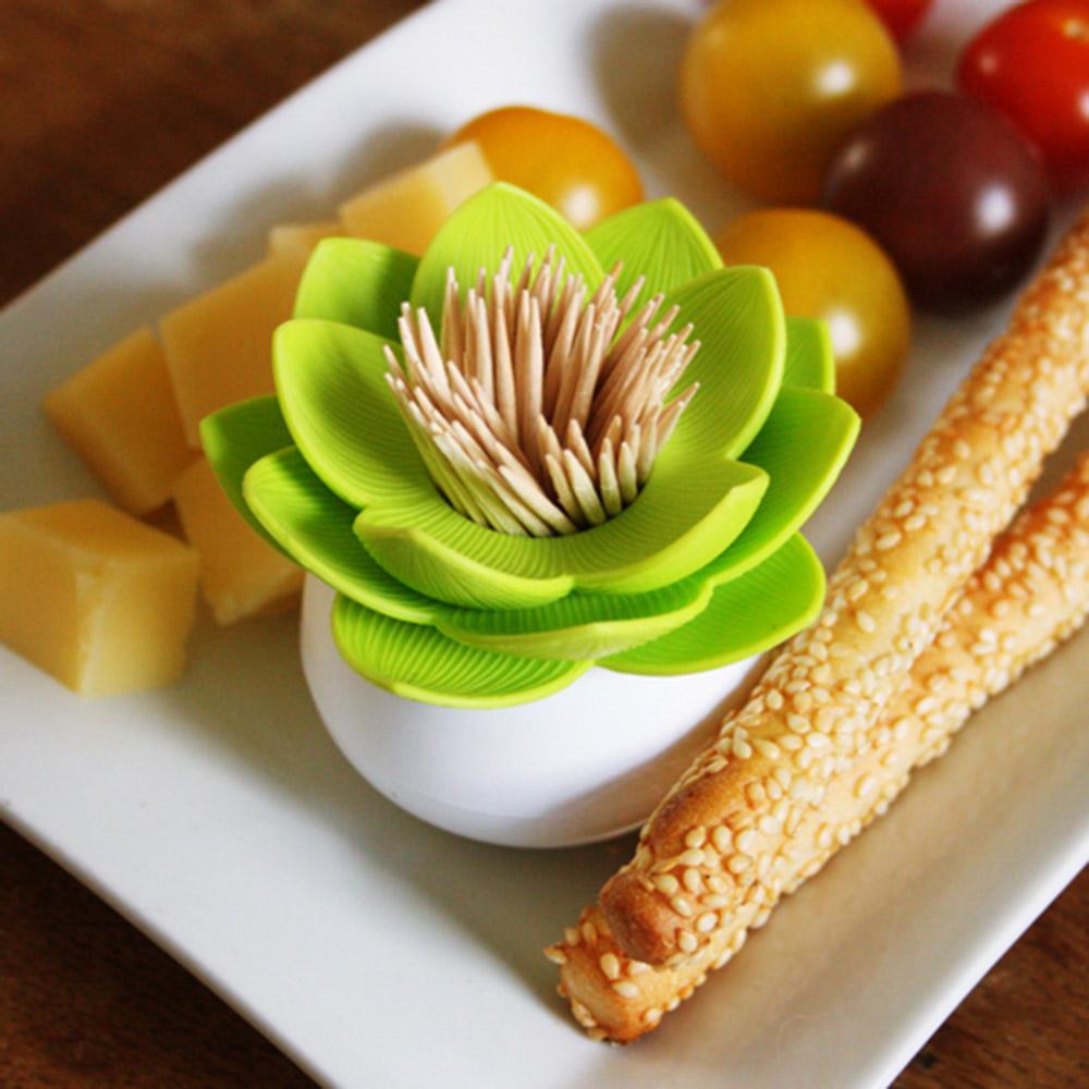 QUALY|蓮花好剔-牙籤罐(白+綠)