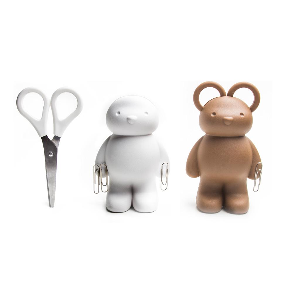 QUALY|泰迪小熊-剪刀組(咖啡)