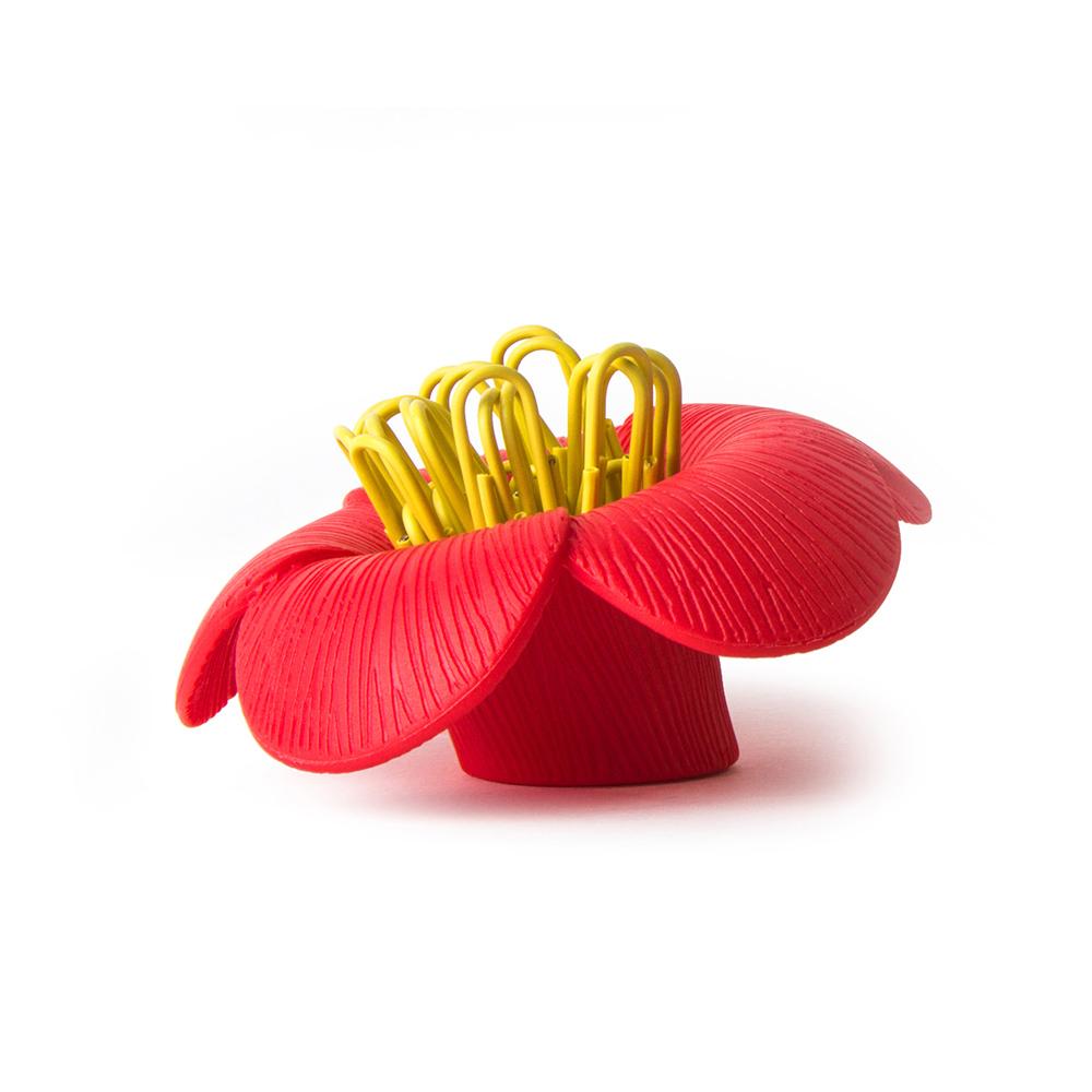 QUALY|山茶花-迴紋針組(紅)