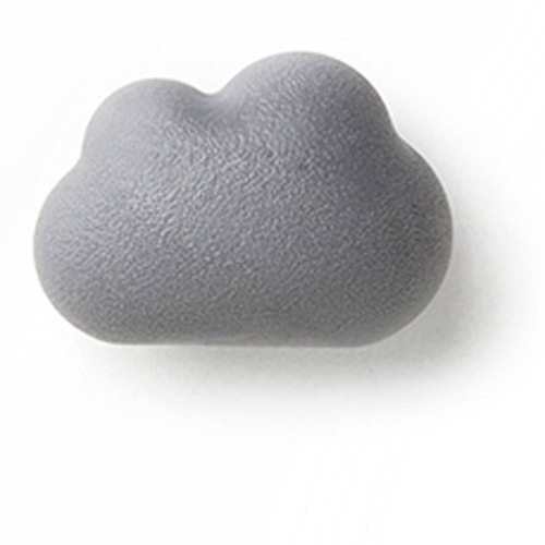QUALY|朵朵雲兒-磁鐵(白+灰)
