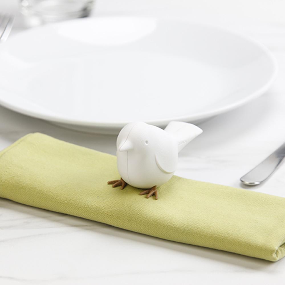 QUALY|雀兒-餐巾夾(白)