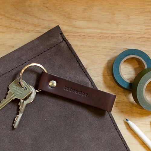 labrador 皮革鑰匙圈