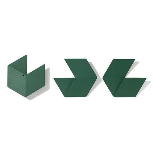 Fold & Plait|大六角錯視壁掛(綠)