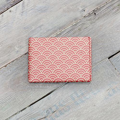 paprcuts|幾何風-零錢短夾(鯉魚橘)