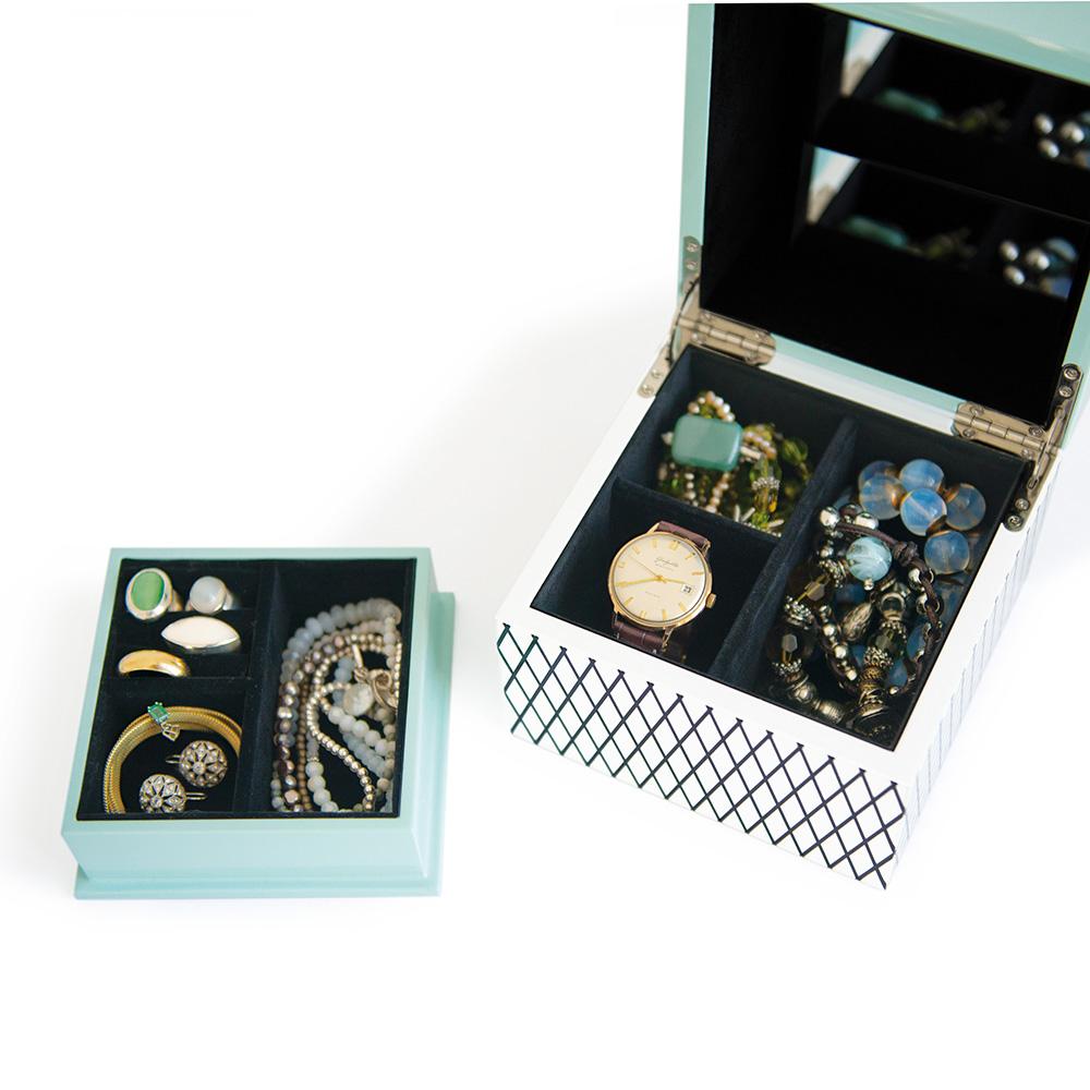 REMEMBER|珠寶盒(夢露黑格紋)