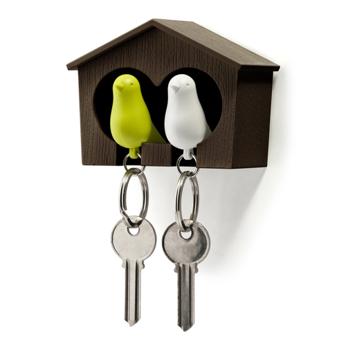 QUALY|雀兒愛巢-咖啡屋(白鳥+綠鳥)