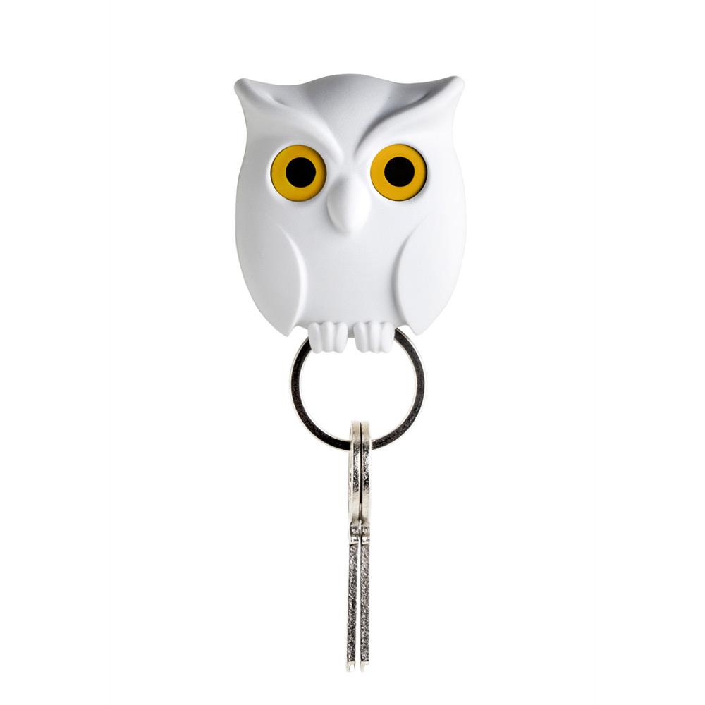 QUALY|貓頭鷹-鑰匙圈(白)