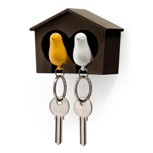 QUALY|雀兒愛巢-咖啡屋(白鳥+黃鳥)