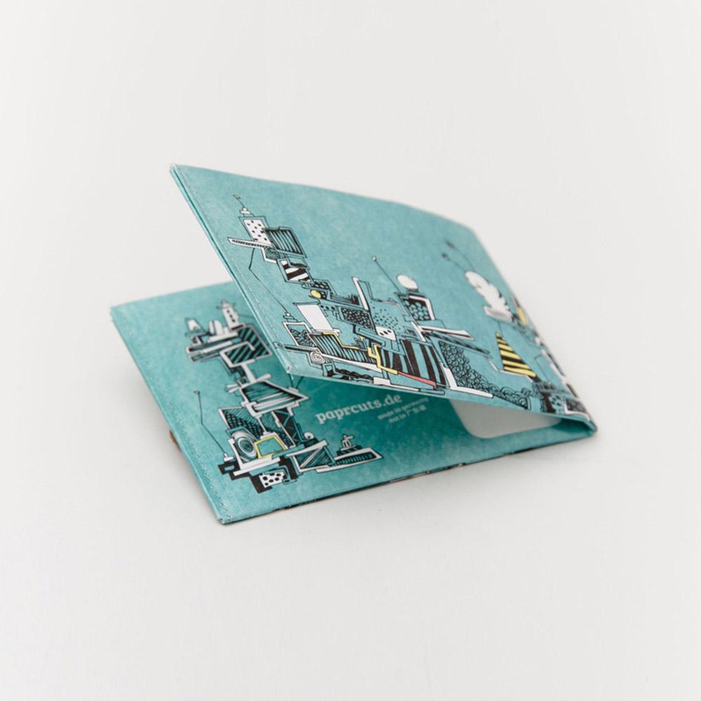 paprcuts|塗鴉風-零錢短夾(土耳其藍)