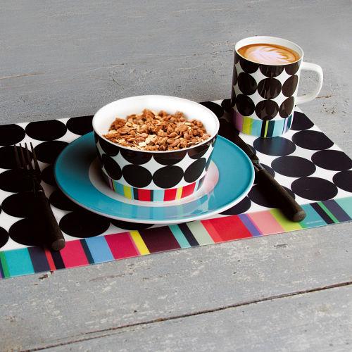 REMEMBER 骨瓷早餐碗(黑彩甜筒)