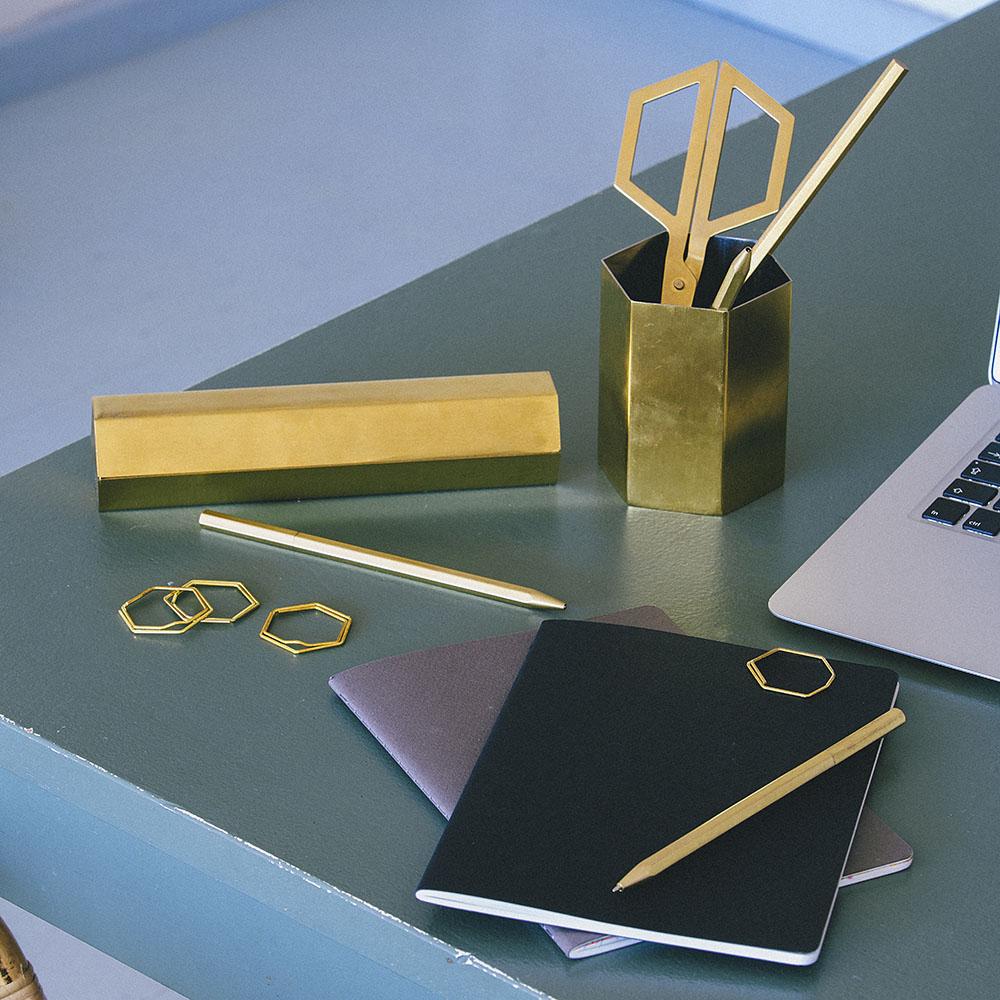 DOIY|六角黃銅筆盒