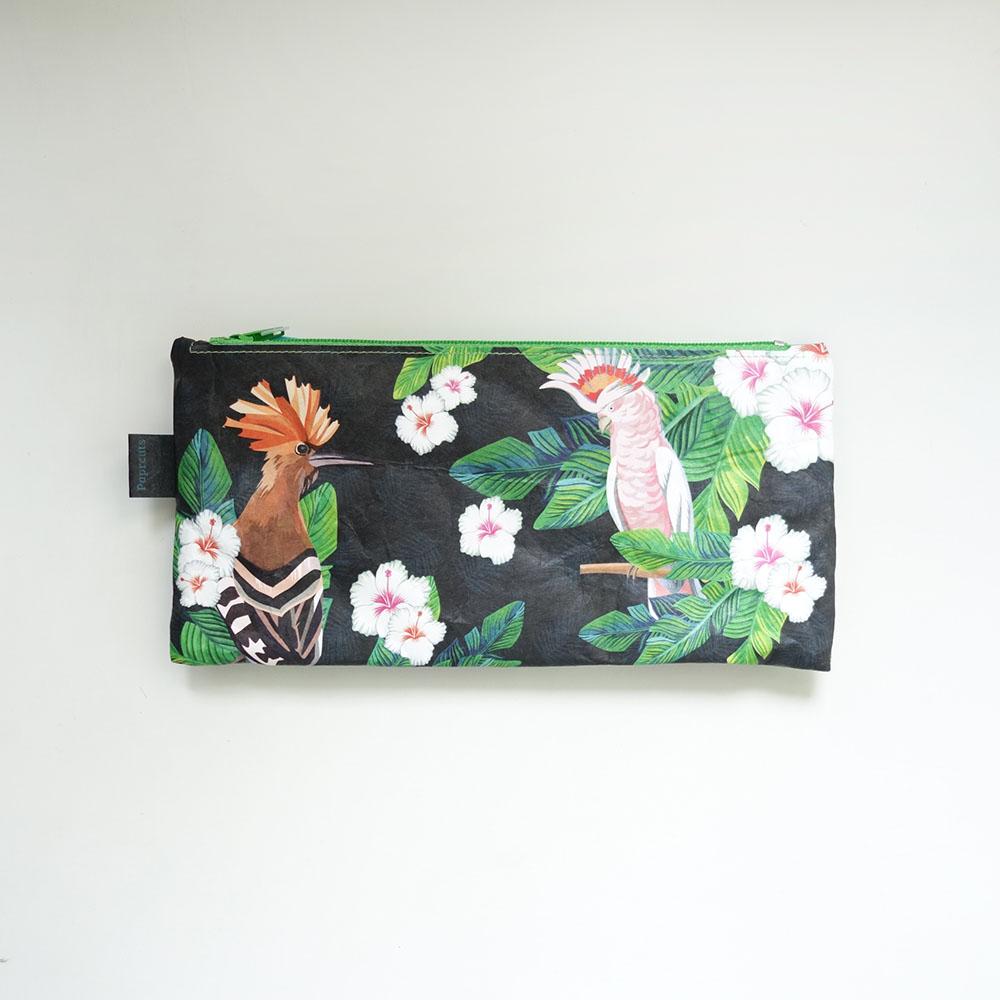 paprcuts 筆袋(粉紅鸚鵡)