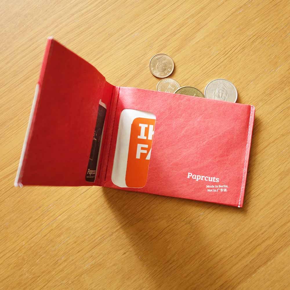 paprcuts 零錢短夾(車線款橘紅)