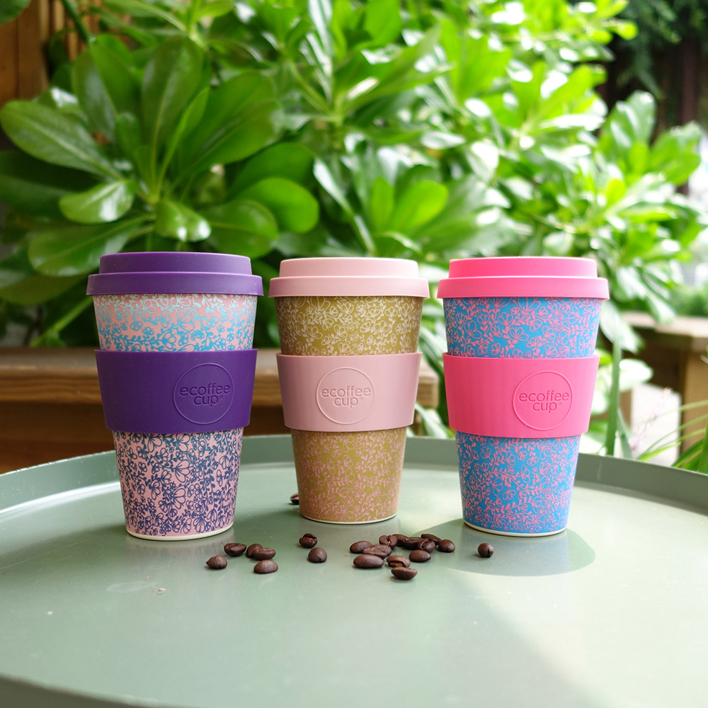 Ecoffee Cup 環保隨行杯14oz-粉藍花