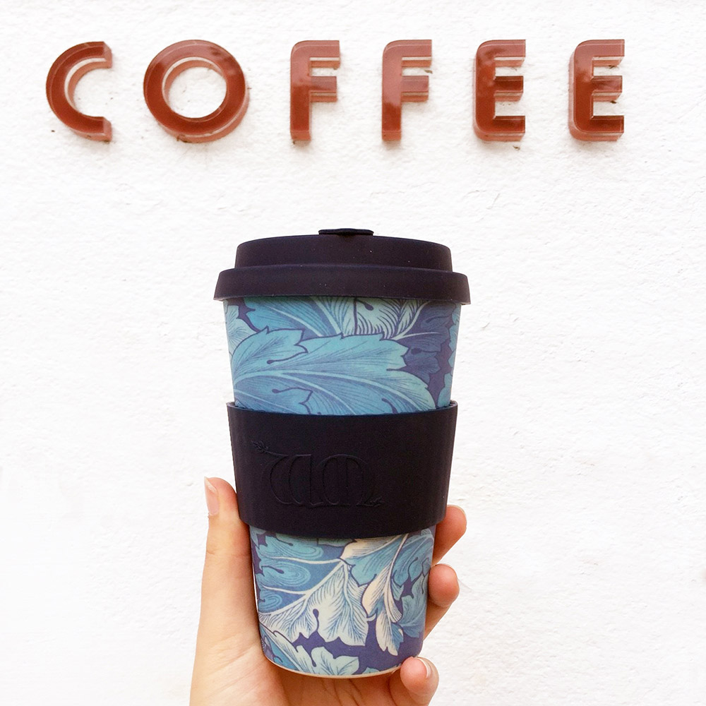 Ecoffee Cup 環保隨行杯14oz-morris藝術聯名款-地中海