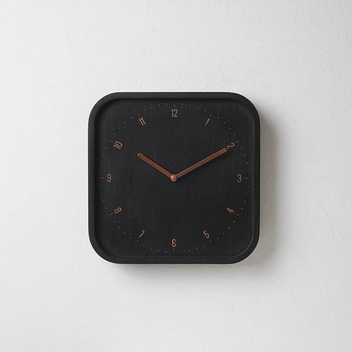 Pana Objects|美好日常-掛鐘(黑方鐘銅針)