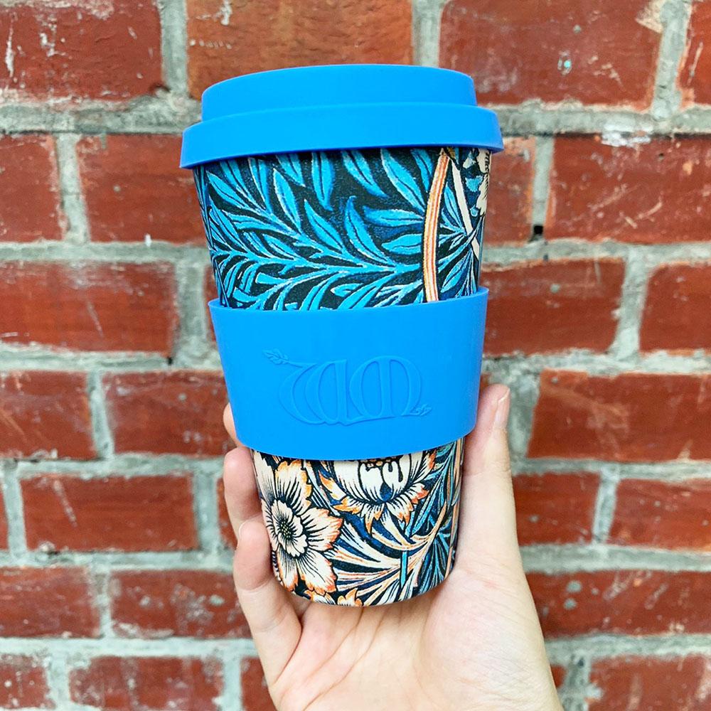 Ecoffee Cup 環保隨行杯14oz-morris藝術聯名款-百合