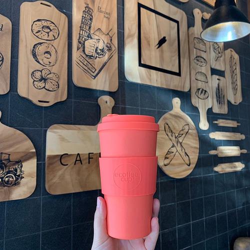 Ecoffee Cup|環保隨行杯16oz-甜橙橘