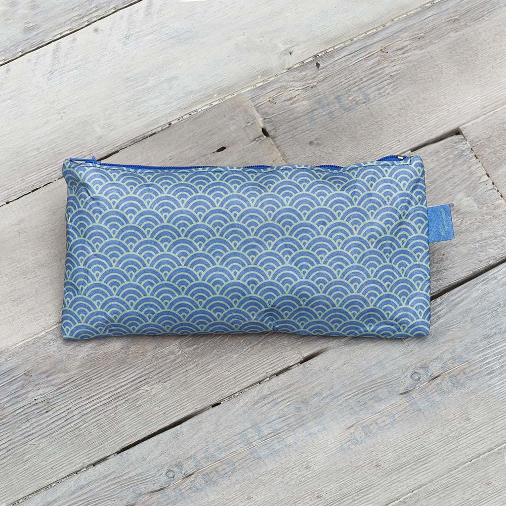 paprcuts|幾何風-筆袋(鯉魚藍)