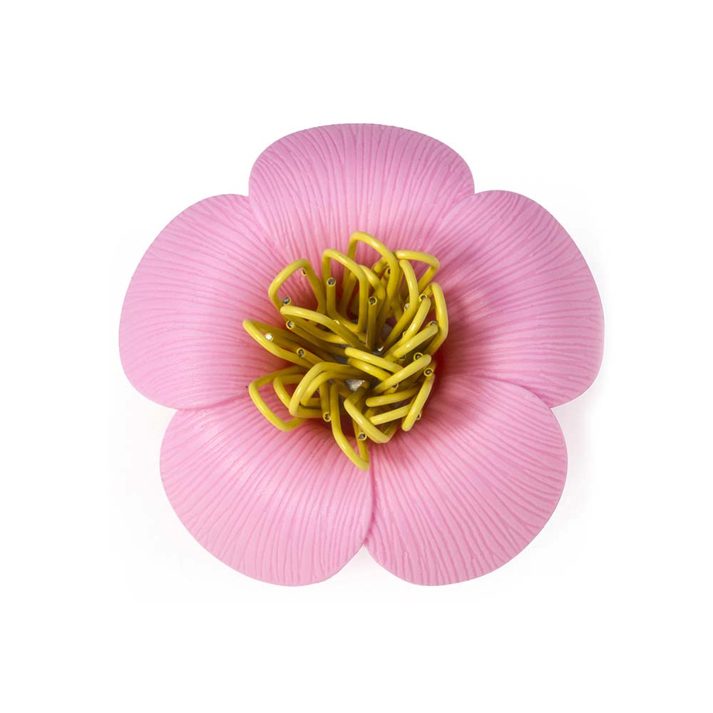 QUALY 山茶花-迴紋針組(粉紅)