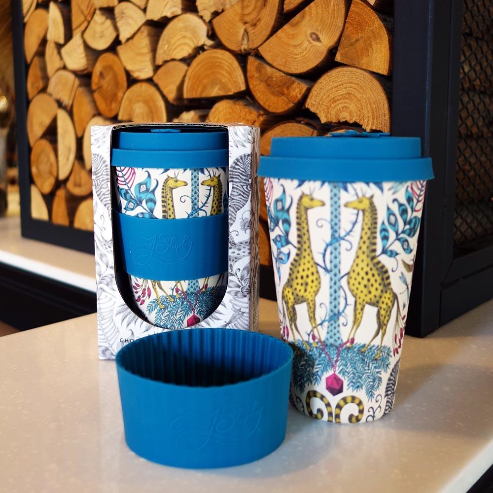 Ecoffee Cup 環保隨行杯14oz-藝術家聯名款(長頸鹿樂園)