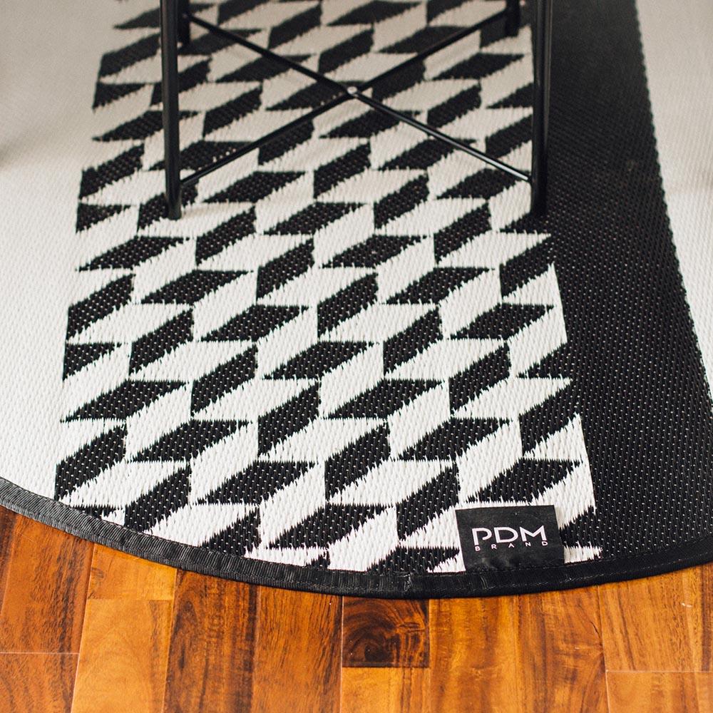 PDM|圓形編織地墊S(卡特黑)