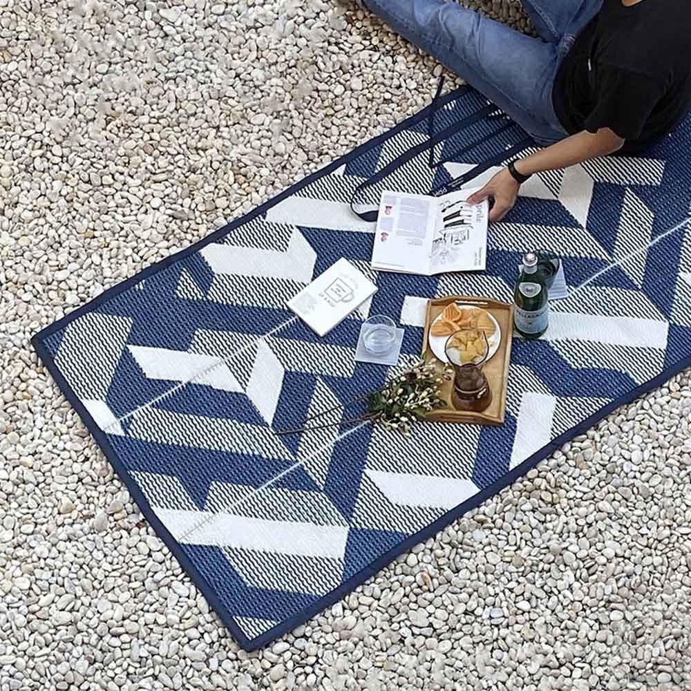 PDM|編織野餐墊S(城市藍)