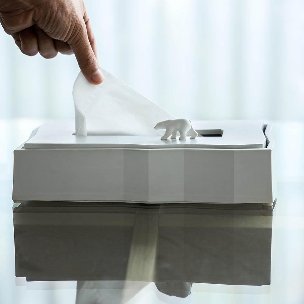 QUALY 北極熊-衛生紙盒