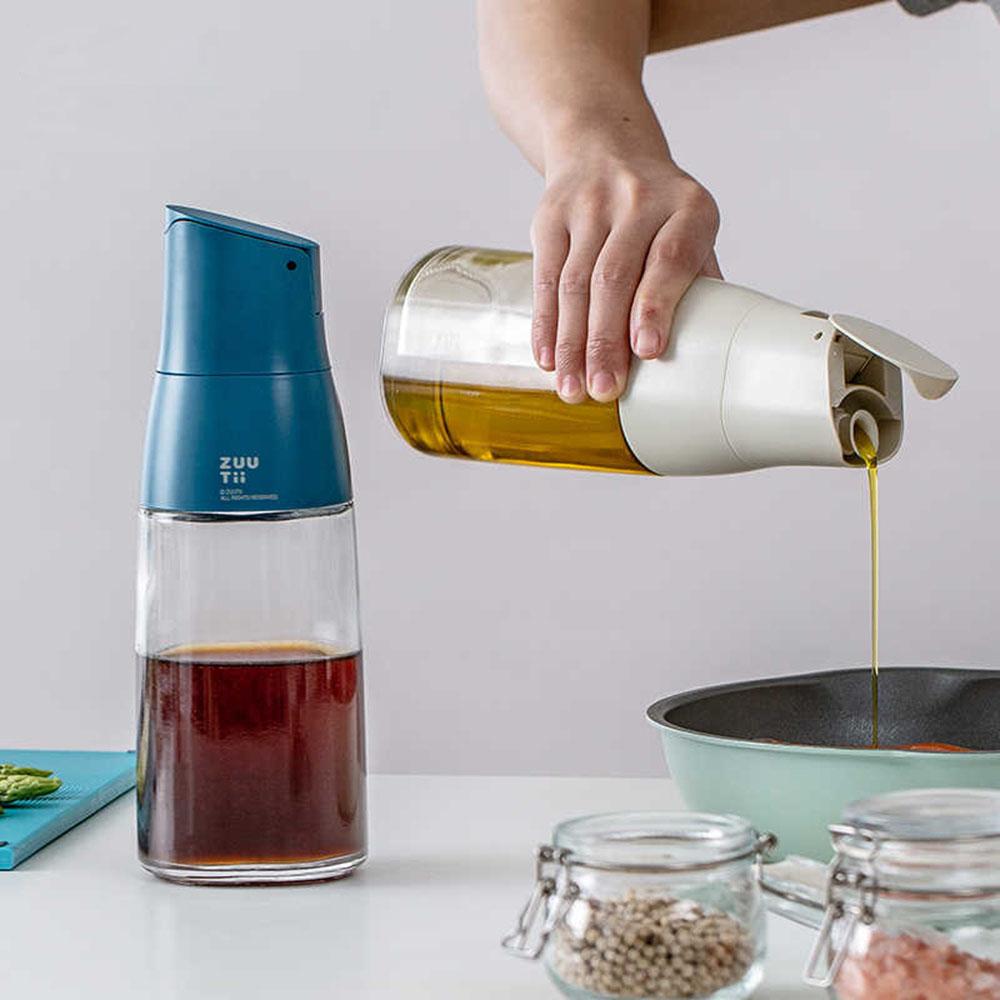 ZUUTii|自動開蓋油醋瓶(萊姆黃)
