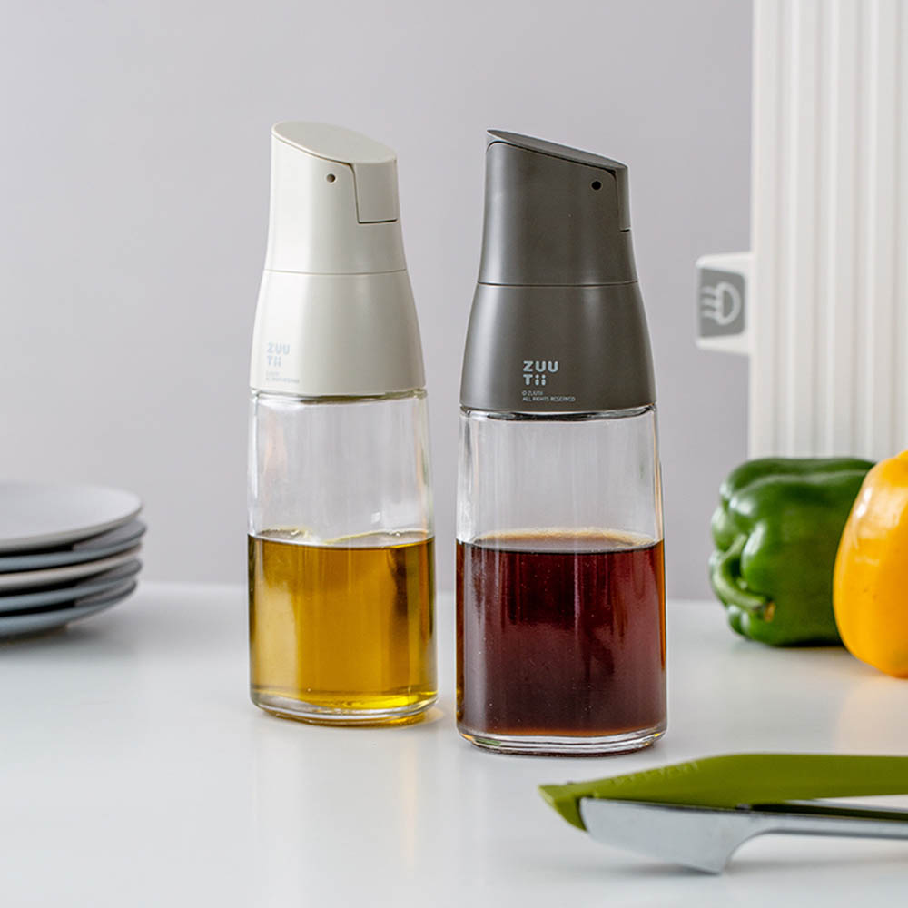 ZUUTii 自動開蓋油醋瓶(芝麻灰)