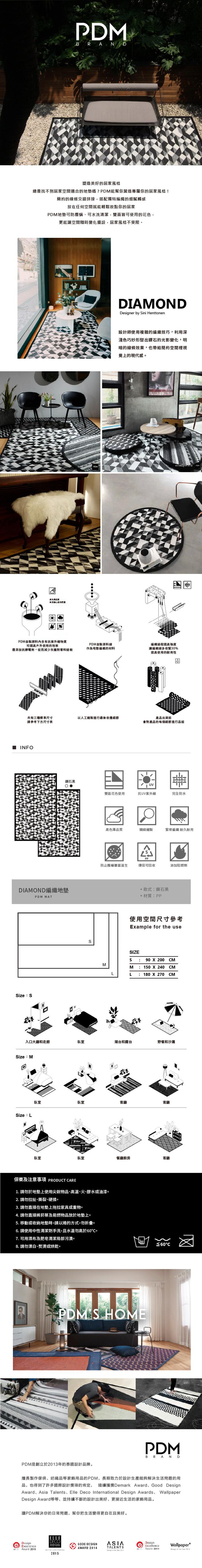 (複製)PDM|編織地墊M(幾何粉)