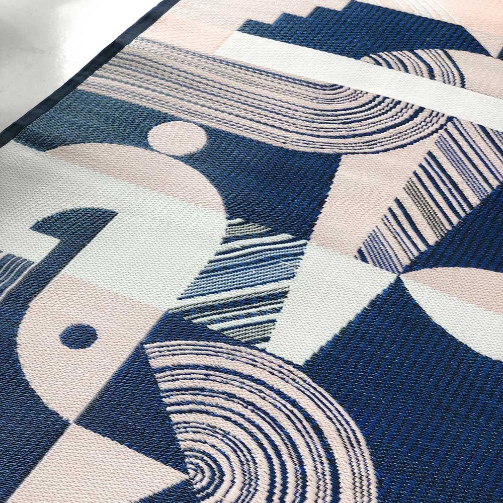 PDM|CROON編織地墊M(幾何藍)