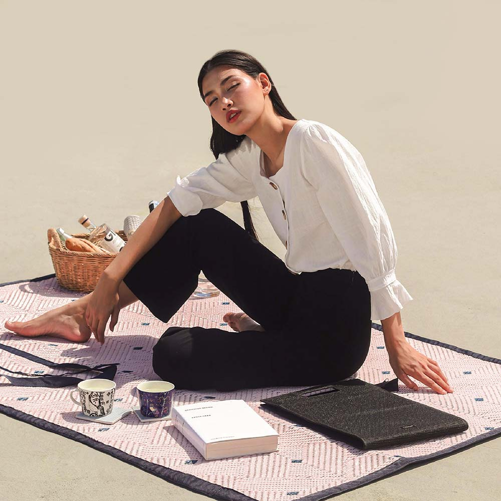 PDM|EASE編織野餐墊M(星芒粉)