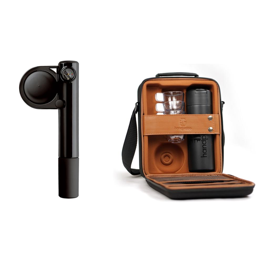 Handpresso|Pump Hybrid Set 行動濃縮咖啡機豪華禮盒組(黑色)