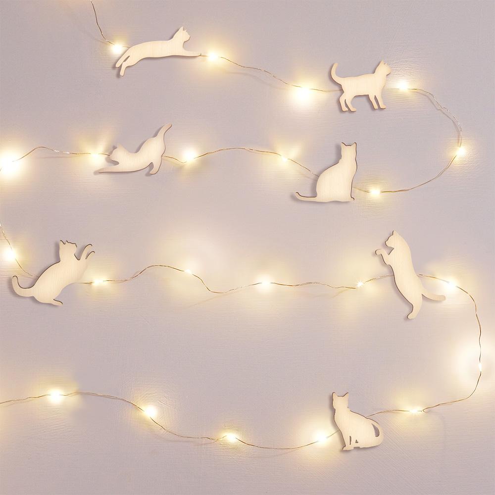 pazo|跳躍貓咪星空掛線燈