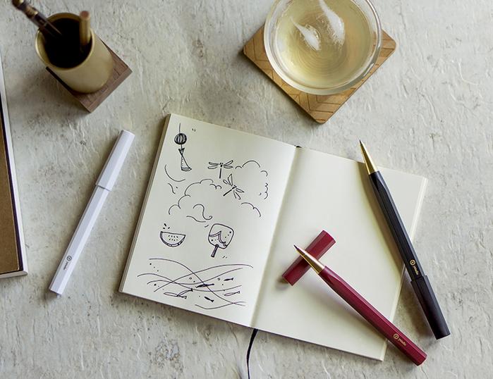 (複製)ystudio| Resin 鋼珠筆 - 白色