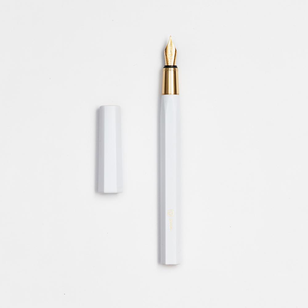 ystudio| Resin 鋼筆 - 白色M尖