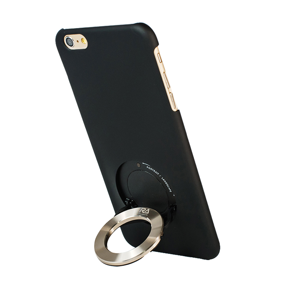 Rolling Ave. iCircle iphone6 / iphone6S 背蓋支架(黑+金環)