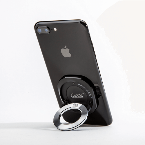 Rolling Ave.|iCircle Uni iPhone 8 / 7 多功能支架保護殼 - 黑色銀環