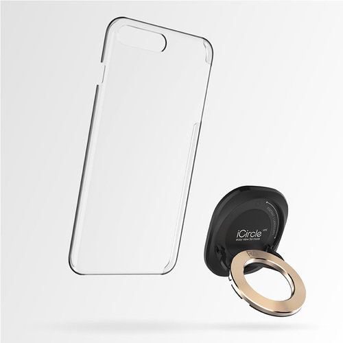 Rolling Ave.|iCircle Uni iPhone 8 / 7 多功能支架保護殼 - 黑色金環