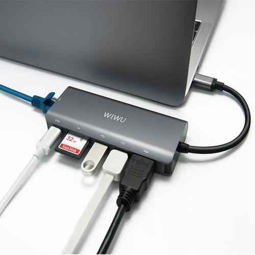 WiWU | Type-C Hub 6 in 1 Hub 多功能充電傳輸集線器
