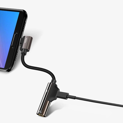 TOTU | 流光系列 | Type-C 彎頭設計充電&聽歌&通話三合一轉接器